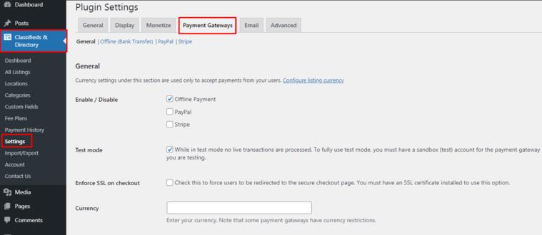 ACADP Payment Gateways